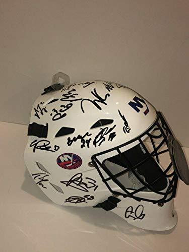 2019 New York Islanders Team Signed Goalie Mask Lee Eberle Bailey Rare - Autographed NHL Helmets and Masks