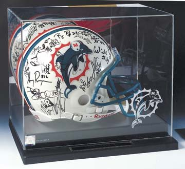 Full Size Football Helmet Display Case with Mirrored Back and Engraved NFL Team Logo ()