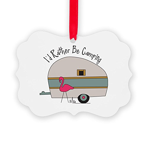 CafePress - Id Rather Be Camping Ornament - Christmas Ornament, Decorative Tree - Happy Trailers Christmas