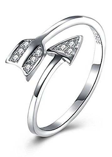 1MATCH Love Struck Arrow Wrap Ring - Mother's Day Gift, Size 5-7
