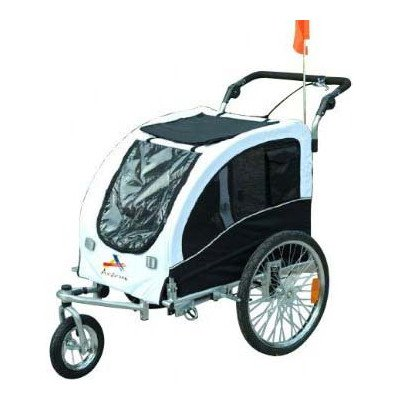 Best of Aosom Elite II Pet Dog Bike Bicycle Trailer Stroller Jogger w/ Suspension – White