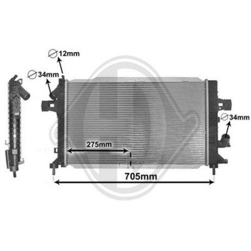 Diederichs DCM2666 Radiator, radiator: