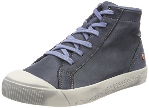 Marine Bleu Baskets Kip448sof Femme Softinos Hautes Washed Yg44wF