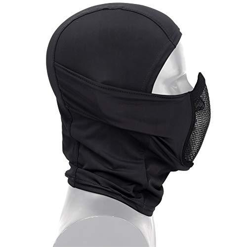 DETECH Tactique Vêtement Respirant Balaclava Maille Masque Visage Complet Airsoft CS Masque Chasse À Vélo Capuche Cache… 3
