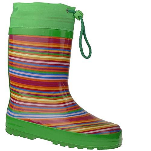 bb575d4ee1b553 Indigo Rainboots Crazy Strips Gummistiefel im lustigen Ringel-LookGr.24-35   Amazon.de  Schuhe   Handtaschen