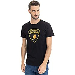 Lamborghini Men's Large Shield T-Shirt, Black (L)
