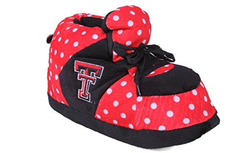 Comfy Voeten Happy Feet Heren En Dames Officieel Gelicentieerde Ncaa Polka Dot Pantoffels Texas Tech Rode Raiders