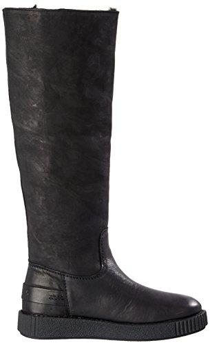 Plisadas Shabbies para Botas Negro Amsterdam Black 0001 Mujer wZvESUZq