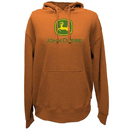 John Deere Logo Hoodie - Men's - Light Pumpkin, Large (John Deere Mens Sweatshirt)