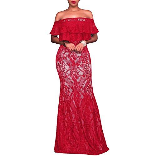 Vintage paules Bodycon Dentelle Nues Soire Synker Floral Robe Femme Cocktail Robe Longue De gqfI5CR