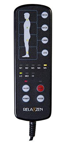046854177055 - Relaxzen 60-2907P04 10-Motor Massage Standard Mat with Heat, Charcoal Gray carousel main 5