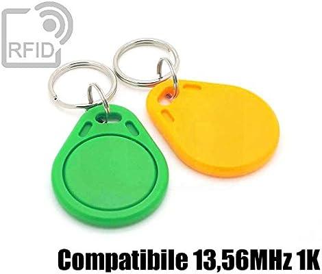 100 Unidades) Llavero RFID Plato Azul 13,56 MHz 1 K ISO ...