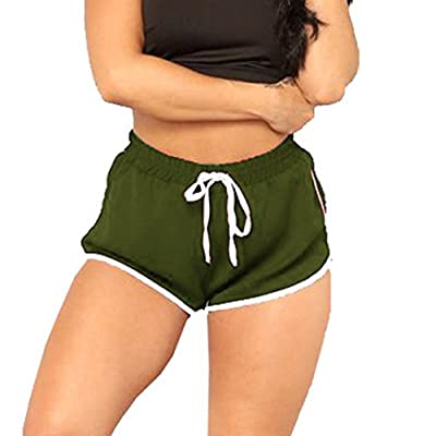 Clearance Sale!FarJing Women High Waist Yoga Pants Bandage Elastic Waist Casual Short Pants
