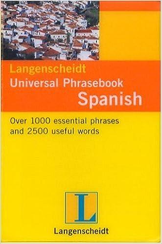 Spanish Phrasebook (Langenscheidt Universal Phrasebooks)