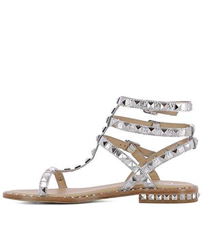 ASH Damen POISON07ROCHERMOON Silber Leder Sandalen