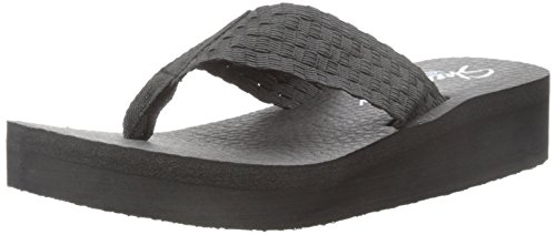 Skechers Cali Women's Vinyassa-Beweave It Flip Flop, Black Weave, 8 US/8 B US