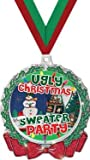 HOLIDAY MEDALS - 2.75'' Glitter Wreath Ugly Sweater Medal 50 Pack