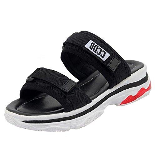 2 black Sandali Zanpa Slides Spiaggia Donna 7RqaOa1x