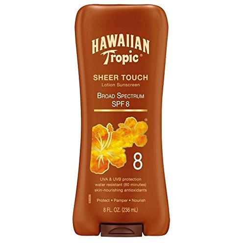 Hawaiian Tropic Sheer Touch Lotion Sunscreen, SPF 8 8 oz (Pack of 2)
