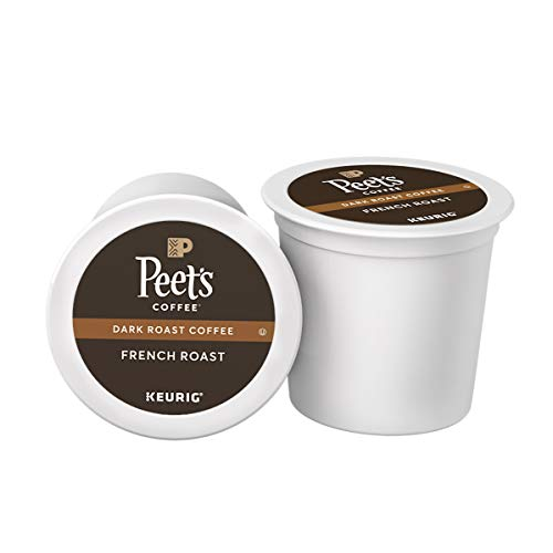 Peet's Coffee French Roast, Dark Roast, 16 Count Single Serve K-Cup Coffee Pods for Keurig Coffee Maker