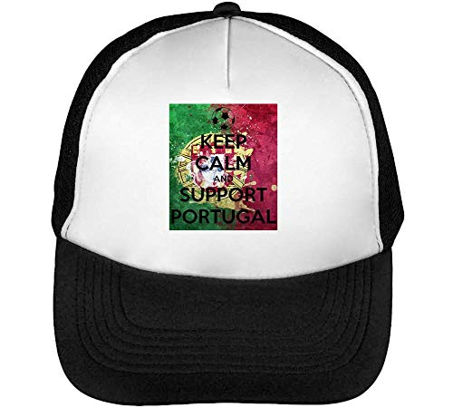Negro Keep Snapback Calm Gorras Portugal Blanco Hombre Support Beisbol ZgBqZx0