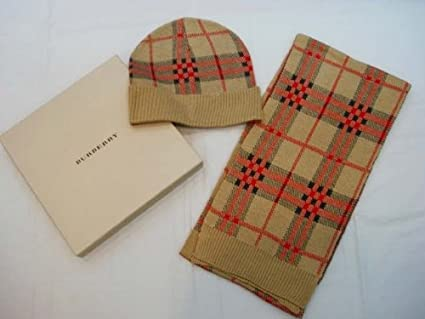 897d95ad93bb9 Amazon.com   TRENDY WINTER CASHMERE-BURBERRY SCARF   HAT SET - BEIGE    Other Products   Everything Else