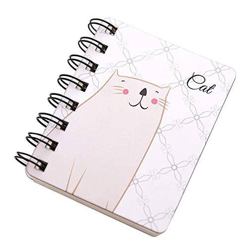 Value-5-Star - 1 Pcs Creative Cute Animal Cartoon Rollover Coil Notebook (Cats)