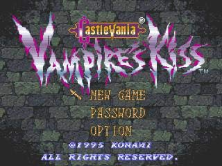 Value★Smart★Toys - Castlevania Vampire's Kiss 16 bit Super Game Card for USA NTSC Game Player