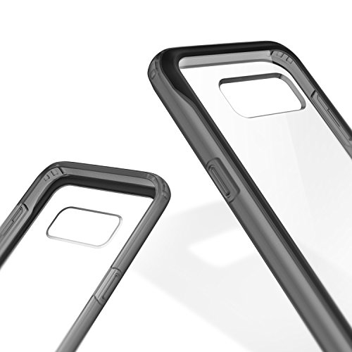 Galaxy S8 Plus Case, Caseology [Coastline Series] Slim Transparent Hybrid PC Panel Bumper Case [Clear Contrast] [Frost Gray] for Samsung Galaxy S8+ Plus (2017)