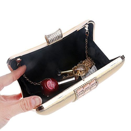 Silver della di borsa diamante della frizione della borsa Borsa delle del a signore modo frizione Gold Color borsa KERVINZHANG tracolla della di della sera Bz8qT