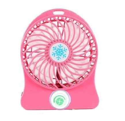 USB Rechargeable Fan mini Portable Fan   Multicolor   Pack of 1