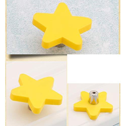 59mm*25.5mm*23.4mm azul Tiradores de goma con dise/ño de estrella amarilla para armarios y cajones de ni/ños /¡Novedad! Hippo