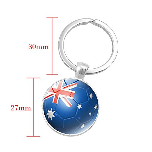 2018 Russia World Flag Key Chain Ring Soccer Football Brazil Italy Team (Crystal Skull Vodka Gift Set Best Price)