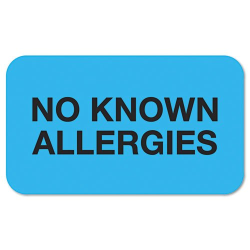TAB01510 - quot; No Known Allergiesquot; Medical Labels