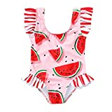 Tiny Cutey Toddler Baby Girls Swimsuit Ruffled