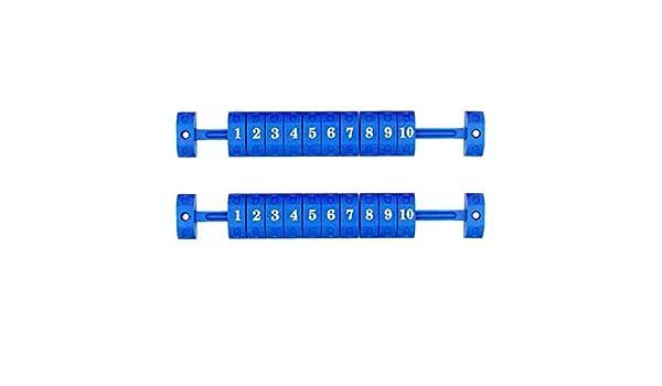 Miju - 2 tablones de futbolín para mesa azul: Amazon.es: Hogar