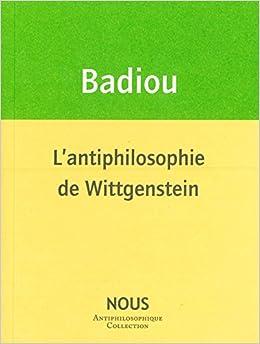 Book L'antiphilosophie de Wittgenstein