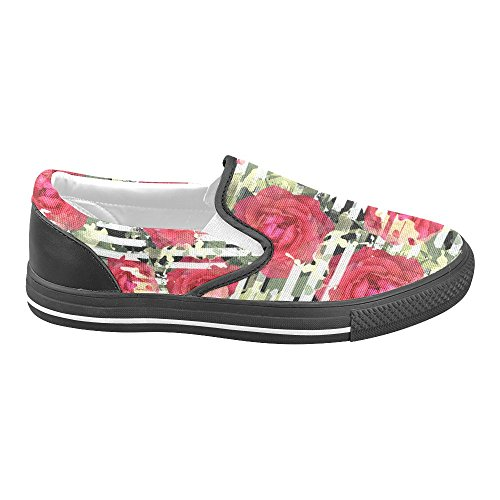 Unik Debora Anpassade Mode Kvinna Gymnastikskor Ovanliga Loafers Slip-on Tygskor Multicoloured24