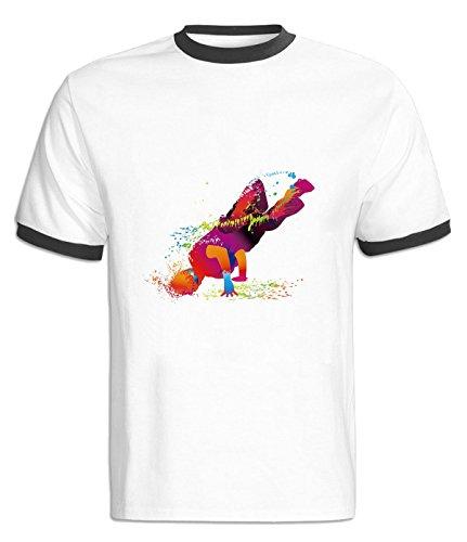 Adj My Dance Firepower Pattern Gift T Shirt for S black