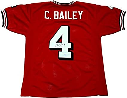 Champ Bailey Autographed Jersey - Custom Red NCAA - Autographed ...