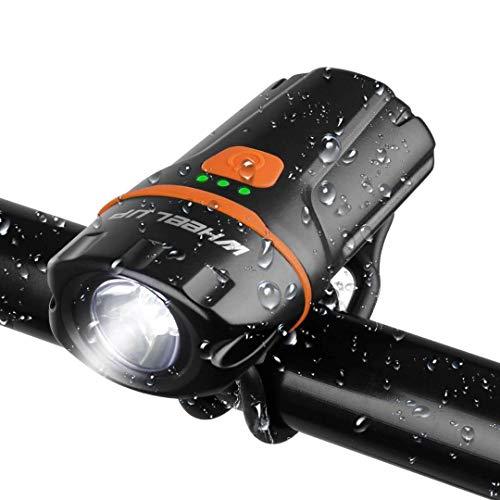 자전거 헤드라이트 USB충전식 소형led라이트 wheel up초 강력 미니 핸디 라이트 고휘도6단계 점등 모드 IP65군용 방수/방진/방재 중전등 겸용대 용량2500mah 스포츠・아웃도어용SOS플래쉬 라이트
