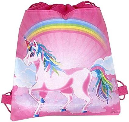Unicorn Drawstring bag for Girls Travel Storage Package Cartoon School Backpacks
