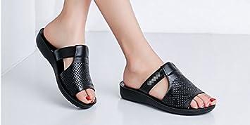 SCLOTHS Été Tongs Femme Chaussures Pente similicuir antidérapant télévision plage fond mou White 6 US/36 EU/3.5 UK e15O8oeL