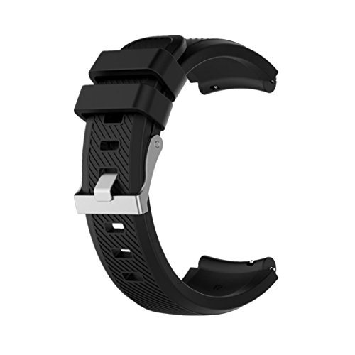 Alonea Huami Watch Band  Soft Silicagel Sports Watch Band Strap For Huami Amazfit Stratos Smart Watch 2  Black