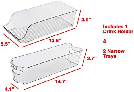 KitchenMate KM-212 - Juego de 6 contenedores apilables para nevera ...