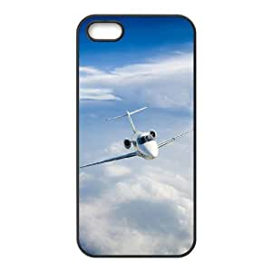 Diy Airplane Pattern Customized for iphone 5s Black Back Cover Phone Case