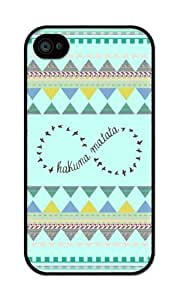 iZERCASE Hakuna Matata INFINITY on Mint Color Geometric RUBBER iPhone 4 / iPhone 4S Case - Fits iPhone 4, iPhone 4S T-Mobile, AT&T, Sprint, Verizon and International by runtopwell
