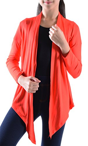 Price comparison product image Big Girls' Long Sleeve Flyaway Cardigan Sweater Red Small