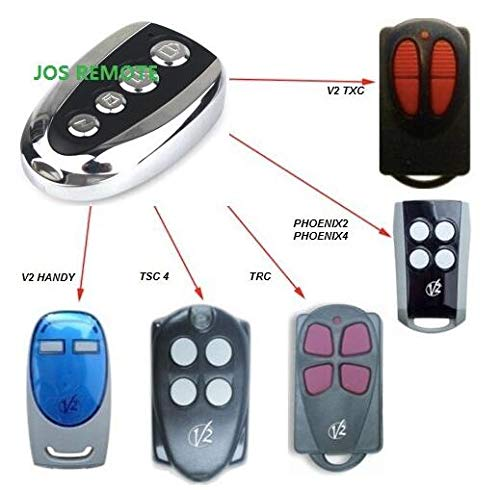 Calvas V2 PHOENIX 2, 4, V2 TSC2, TSC4, V2 TRC2, TRC4, TXC2, TXC4, HANDY2, HANDY4 433.92 MHz Rolling Code replacement remote 3pcs by Calvas