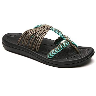 MEGNYA Women's flip Flops Sandals Arch Support Comfortable Walking Summer Water Beach Slipper